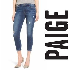 PAIGE Jeans Verdugo Crop Skinny Nathan Destructed
